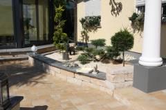 Gartengestaltung und Außentreppen